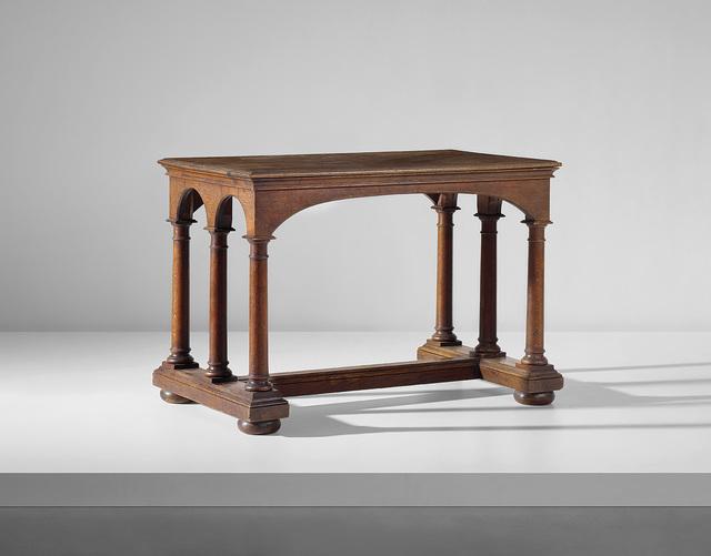Sir Edwin Lutyens, 'Table', circa 1909, Design/Decorative Art, Oak., Phillips