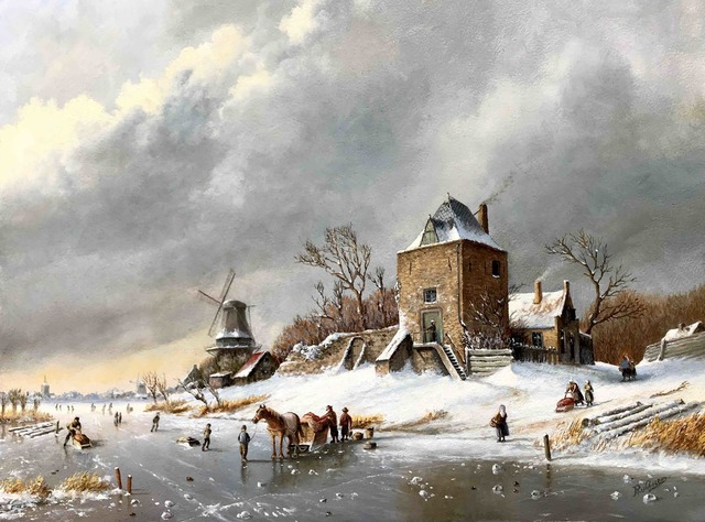 , 'Horse with sledge on the ice.,' , ArtBoutique