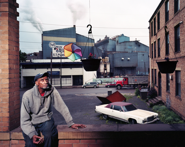 , 'My neighbour Joe with our view of the Edgar Thomson Steel Mill,' 2012, Alan Cristea Gallery