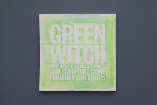 , ' GREEN WITCH WITH A HAWK FACE'RIDES A CAMEL AND SCORPIONS COME FROM HER FINGERTIPS,' 2012, Almine Rech Gallery