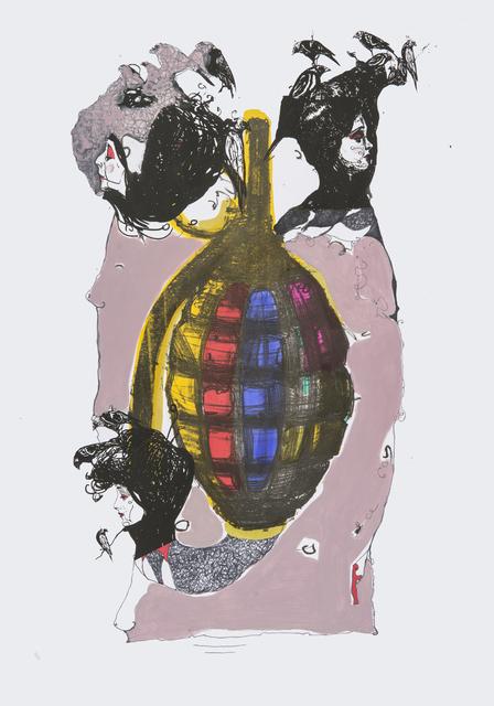 Frank David Valdés, 'Countdown', 2018, Painting, Mixed media on paper, ArteMorfosis - Cuban Art Platform