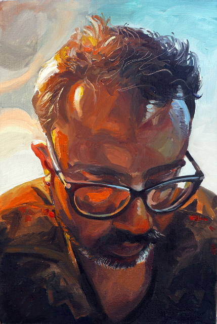 , 'Artist's self-portrait at the age of 42,' 2018, Sanat Initiative