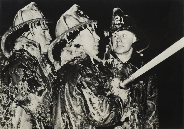 Weegee, 'On Duty in Winter (Three Firefighters)', 1944, SF Camerawork Benefit Auction