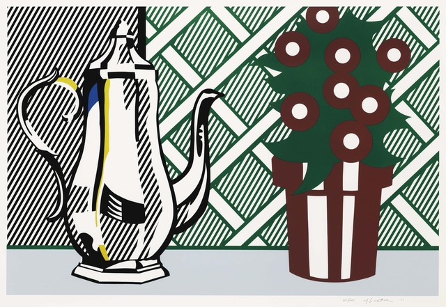 Roy Lichtenstein, 'Still Life with Pitcher and Flowers, from Six Still Lifes series', 1974, Print, Lithograph and screenprint in colors on Rives BFK paper, Christie's