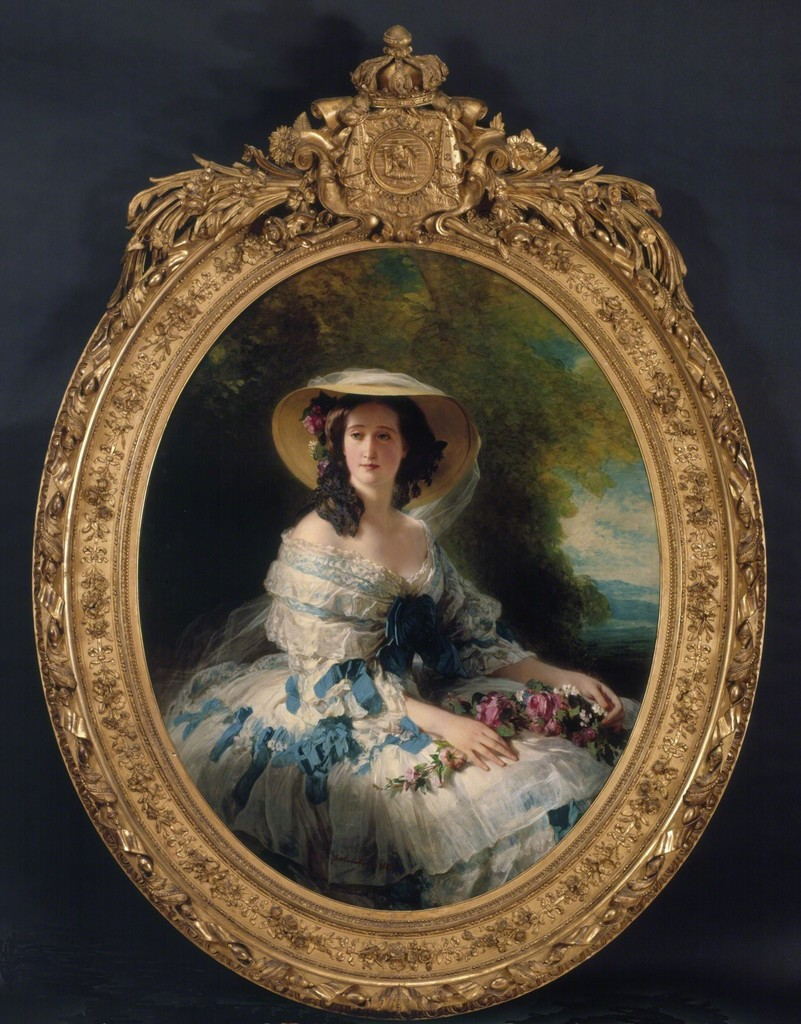 Franz Xaver Winterhalter | Portrait of Empress Eugénie (1857) | Artsy