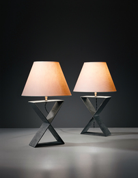 "Jean-Michel Frank, 'Pair of ""X"" table lamps, from the Hotel Horizonte, Mar del Plata,' ca. 1940, Phillips: Design"