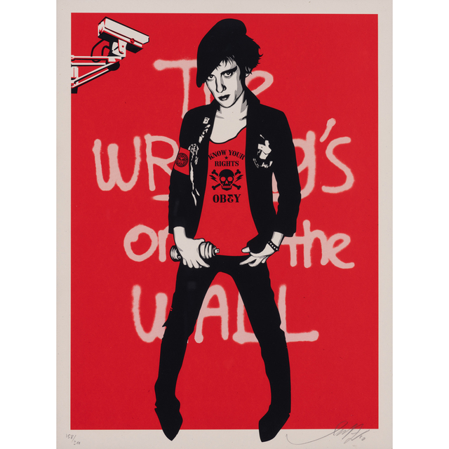 Shepard Fairey, 'Writing on the wall red', 2010, PIASA