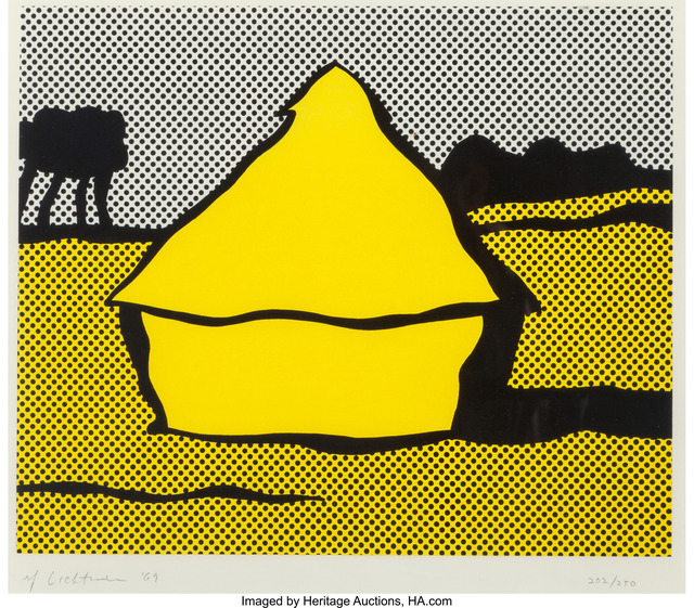 Roy Lichtenstein, 'Haystack', 1969, Print, Screenprint in colors on Fabriano wove paper, Heritage Auctions