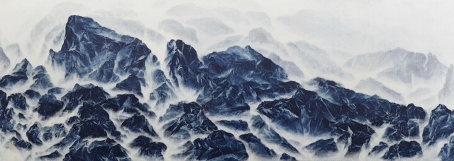 Wu Chi-Tsung, 'Cyano-Collage 086', 2020, Painting, Cyanotype, Xuan Paper, Acrylic Gel, Acrylic, Galerie du Monde