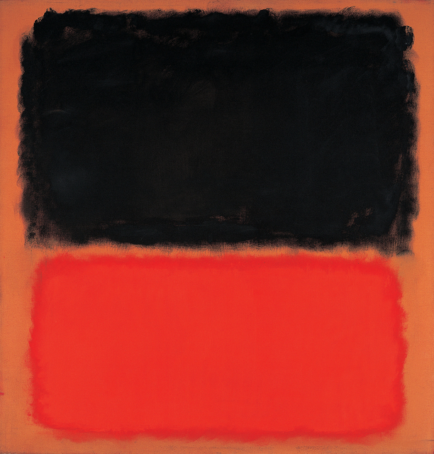 , 'Untitled (Black and Orange on Red),' 1962, Leeum, Samsung Museum of Art