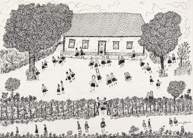 , 'Saida da escola,' 1980, Galeria Estação