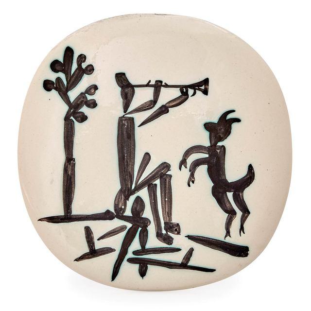 Pablo Picasso, 'Joueur De Flûte Et Chèvre (A.R. 382)', 1956, Doyle