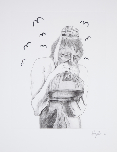 , 'Man devouring Big Mac (2),' 2014, Human Reproduction