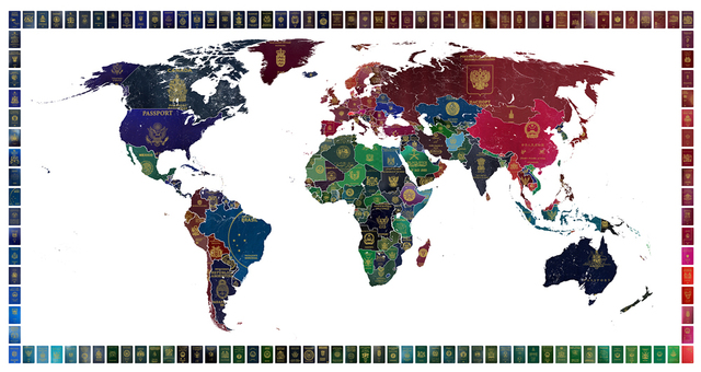 , 'World Passport Map,' 2016, TAG Fine Arts