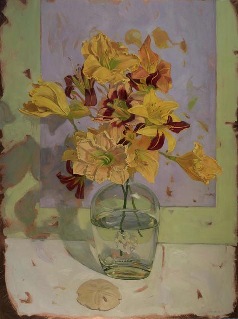 , 'Day Lily Bouquet on Violet,' 2018, LeMieux Galleries