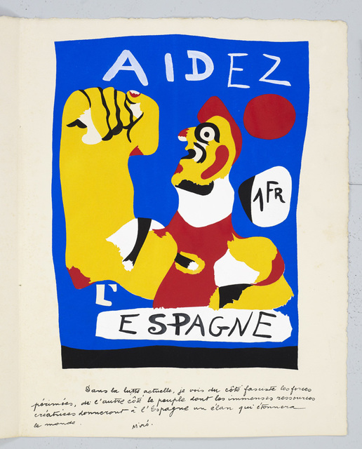 , 'Aidez L'Espagne (From Cahiers D'Art),' 1937, Galerie Maximillian