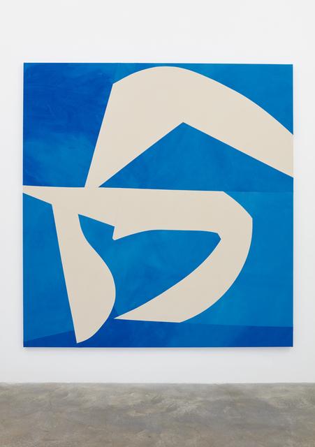 , 'Sliced Shapes, Blue Background,' 2018, Casey Kaplan