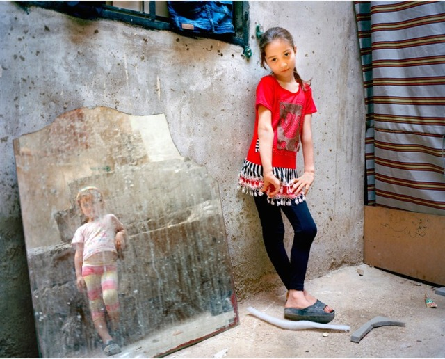 , 'Amal 9, Zahra 5 (girl in the mirror), Beirut,' 2014, East Wing
