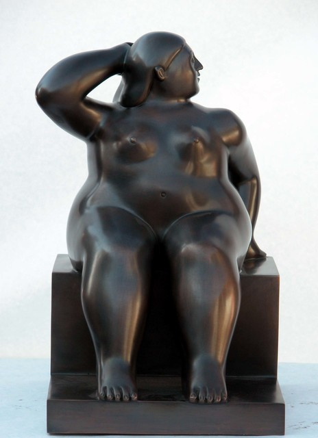 , 'Woman sitting on cube (small). E.A. 2/2,' 2006, Fernando Pradilla/El Museo
