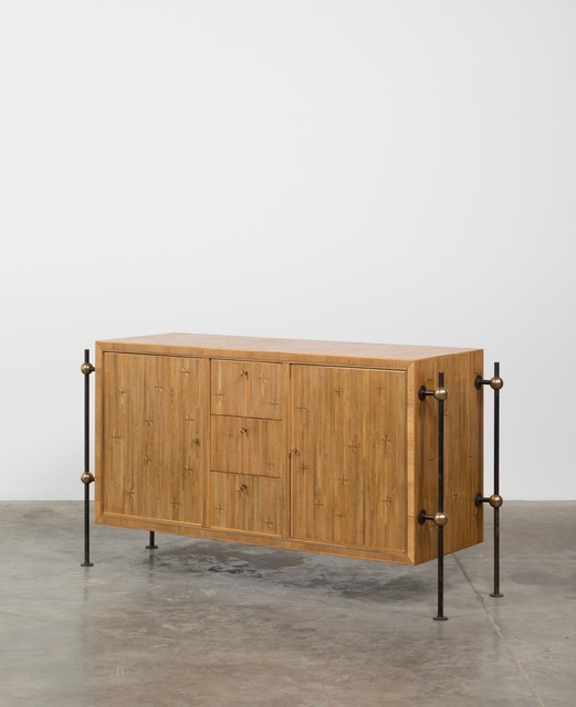, 'Straw marquetry sideboard,' ca. 1955, Galerie Downtown - François Laffanour