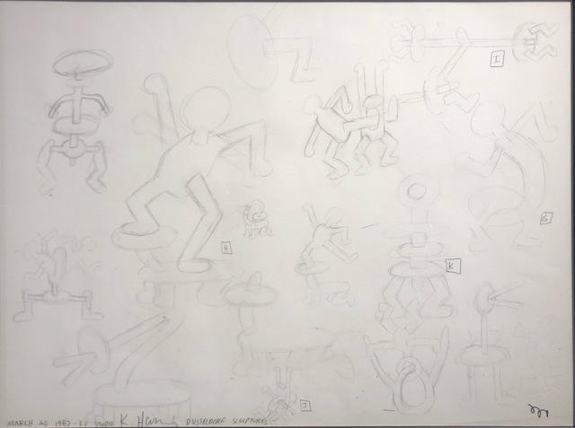 Keith Haring, 'Sans titre (Study For Dusseldorf Sculptures)', 1987, Gloria Gallery