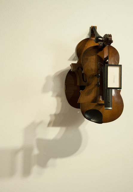 , 'Deconstructed Violin with Drawing,' 2013, Carl Solway Gallery
