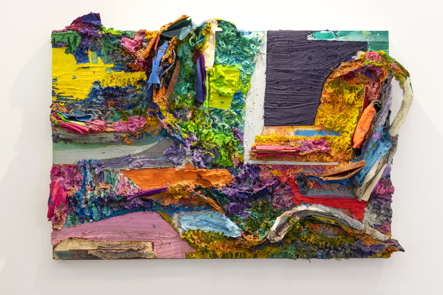 Nuno Ramos, 'Sol a Pino #3', 2018, Painting, Ecaustic, oil, cloth, plastic and metal on wood., Kogan Amaro