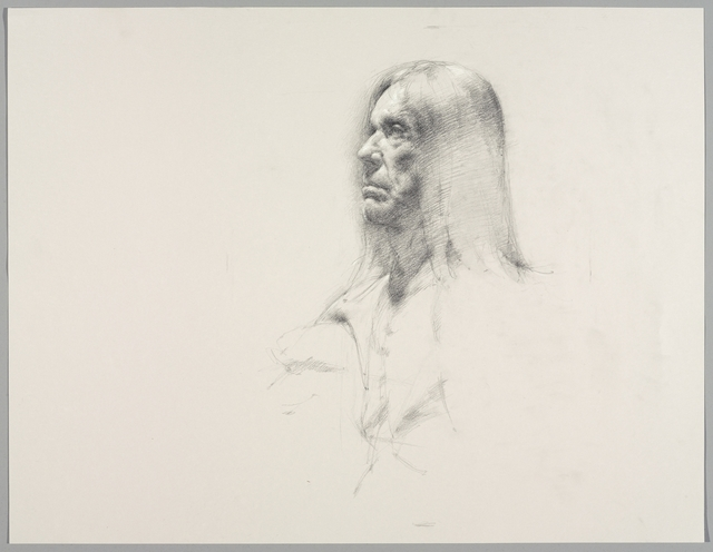 , 'Untitled (Seated pose, detail of face),' 2016, Brooklyn Museum