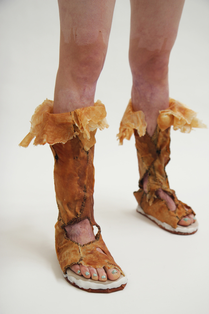 , 'Dermis Leather Footwear,' 2011, Cantor Fitzgerald Gallery, Haverford College