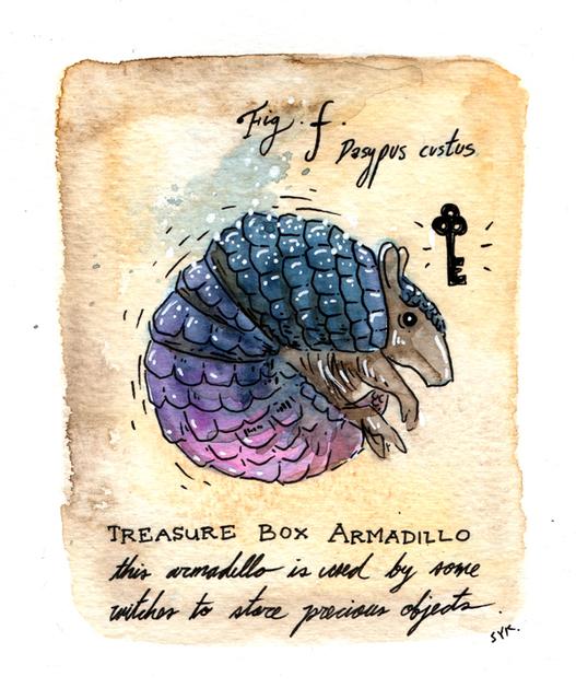 , 'Treasure Box Armadillo,' 2017, Flower Pepper Gallery