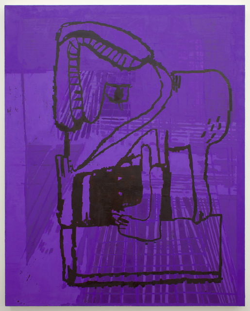 , 'purple beast,' 2017, Romer Young Gallery