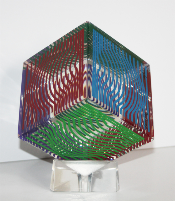 Victor Vasarely, 'Moire-Wave Cube', 1989, EastCoastArt