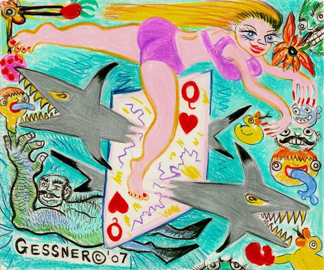 , 'Pisces Shark Dance,' 2007, Gold/Scopophilia*