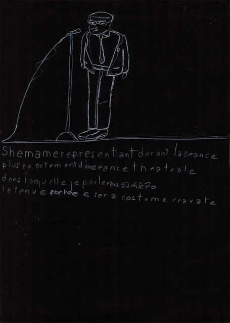 , 'schéma me représentant durant,' 2002, christian berst art brut