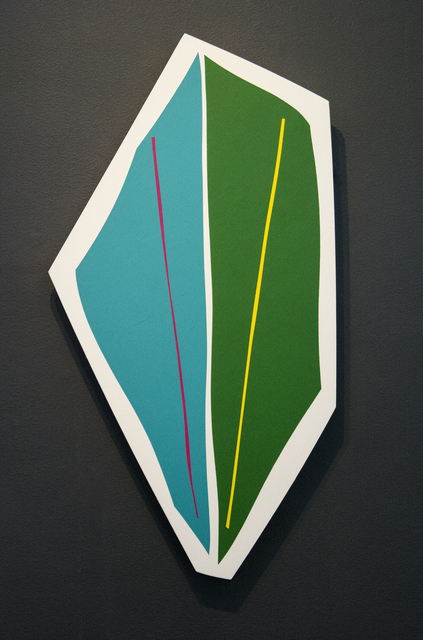 Aron Hill, 'Aqua & Green Shape', 2017, Painting, Acrylic Paint and Gold Leaf on Panel, Oeno Gallery