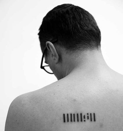 , 'A tattoo of the logo of Rijeka`s Museum of Modern and Contemporary Art,' 2013, Michaela Stock