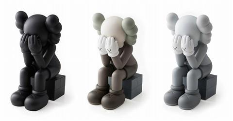 KAWS, 'PASSING THROUGH SET OF 3 (OPEN EDITION)', 2018, Sculpture, Vinyl, Paint, Marcel Katz Art