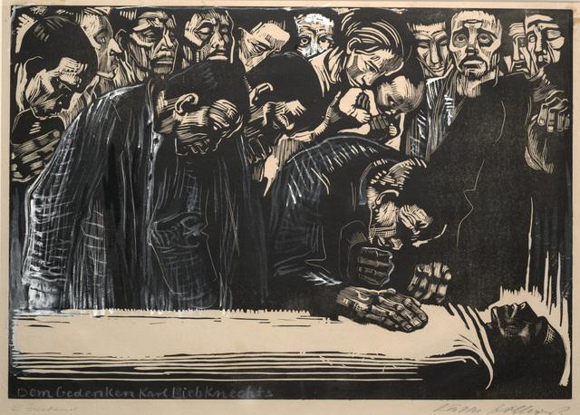 Käthe Kollwitz, 'Memorial Sheet of Karl Liebknecht (Gedenkblatt für Karl Liebknecht)', 1919-1920, Dallas Museum of Art