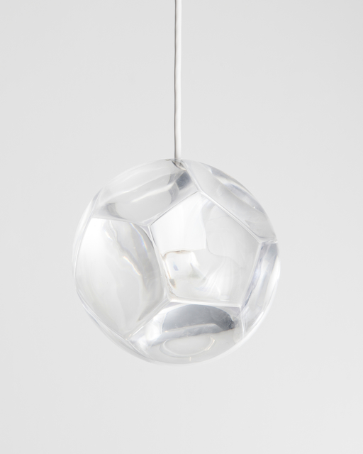", '""Dodecahedron"" chandelier and optical instrument with clear lenses,' , Frederieke Taylor Gallery"