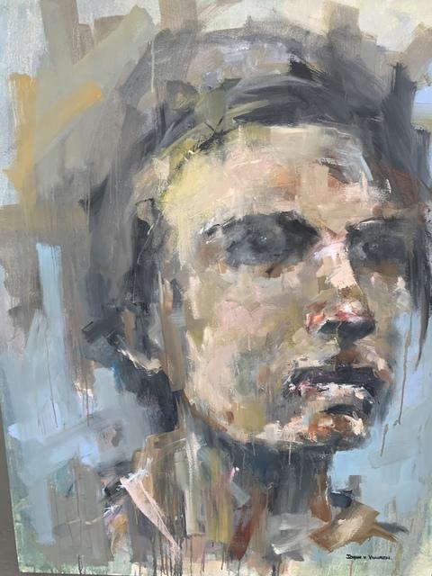Johan van Vuuren, 'Light Blue Portrait', 2018, Painting, Oil on Canvas, Axis Art Gallery