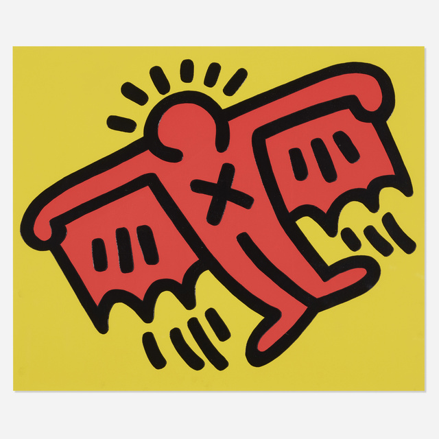 Keith Haring, 'Plate 3 (from Icons portfolio)', 1990, Wright