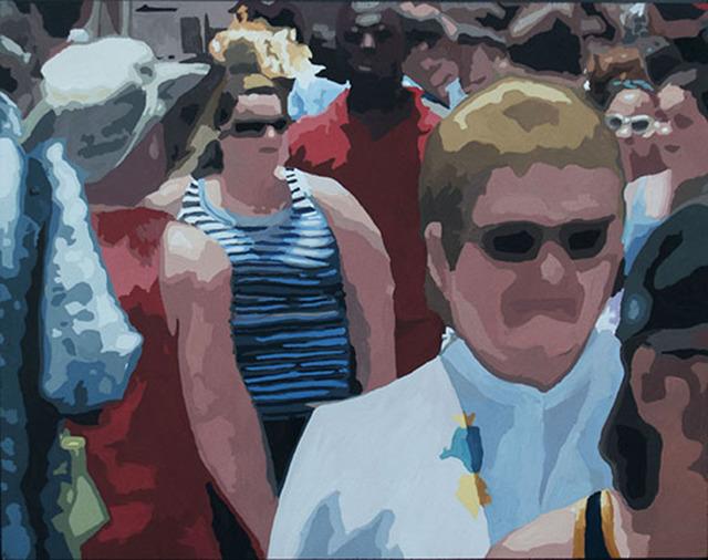 James Oliver (1972), 'Crowd (Composition #17)', George Billis Gallery