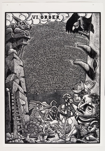 , 'VI. Order            The Book of Only Enoch, 2011-2014 A portfolio of 20 woodcuts drawn and cut by Jay Bolotin over a 4 year period,' 2011-2014, Carl Solway Gallery