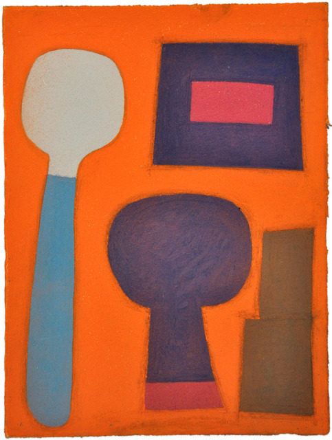 , 'Untitled (shapes on orange),' 2011, Fleisher/Ollman