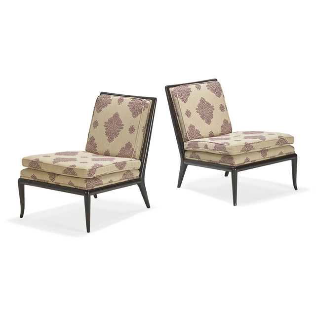 T.H. Robsjohn-Gibbings, 'Pair of lounge chairs, Grand Rapids, MI', 1960s, Rago/Wright