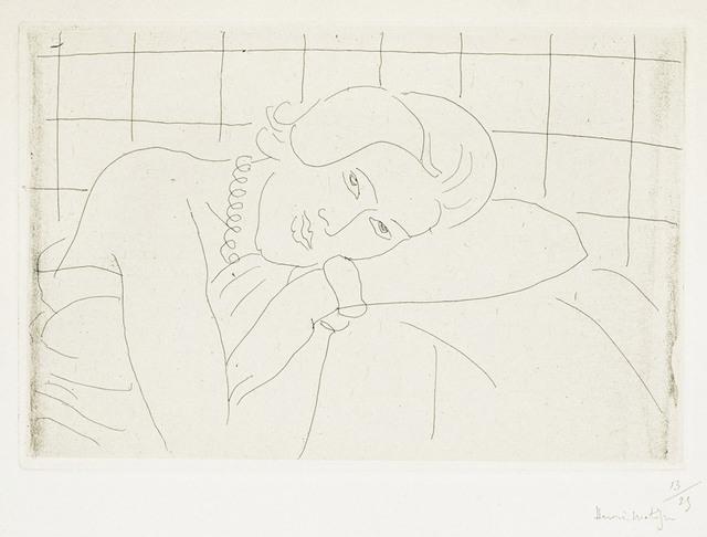 , 'Figure, tête reposant sur le bras gauche,' 1929, Galerie Raphael