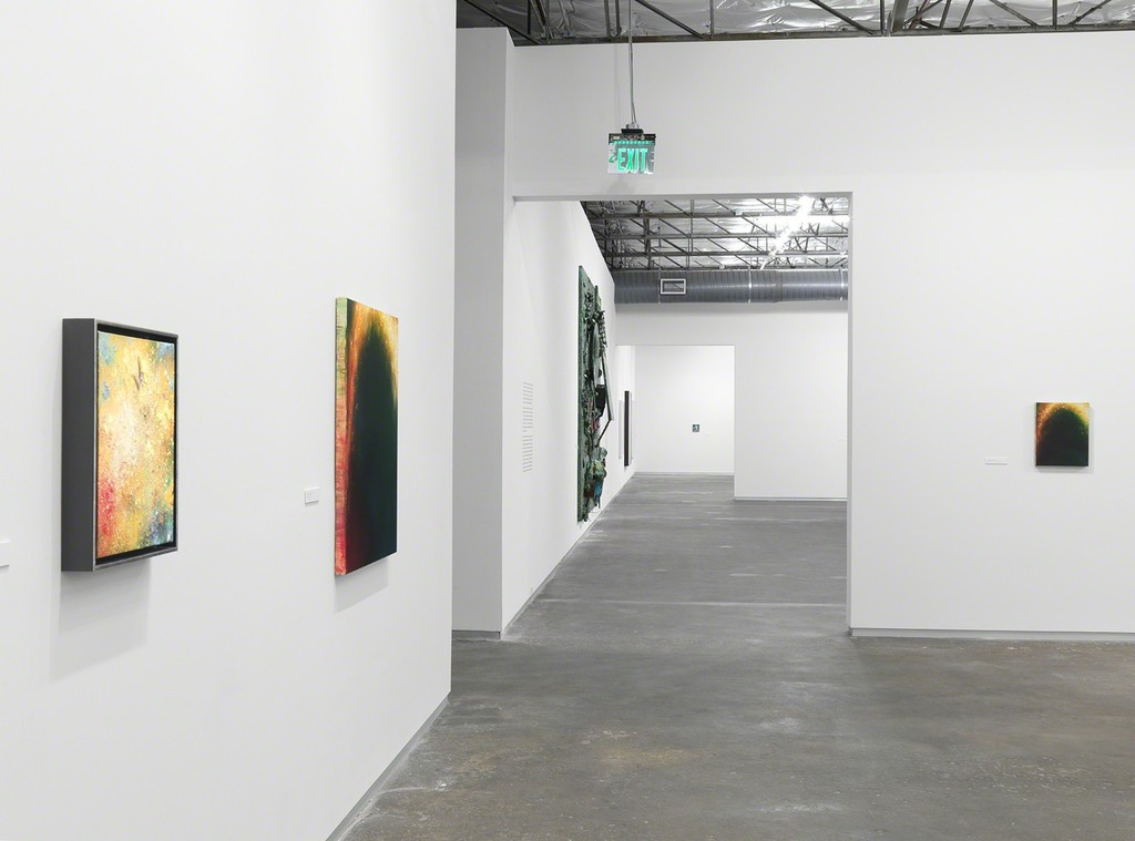 "Installation view of ""Dan Colen: Oil Painting"" at Dallas Contemporary, Dallas (2016). Photo Credit: Christopher Burke"