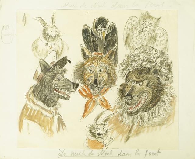 Marie Vorobieff Marevna, ''La nuit de Noch [sic] dans la foret'', Roseberys