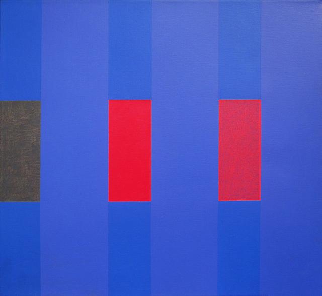 Oli Sihvonen, '3 x 3 (Variant 3 on Blues)', ca. 1973, Painting, Oil on canvas, 203 Fine Art