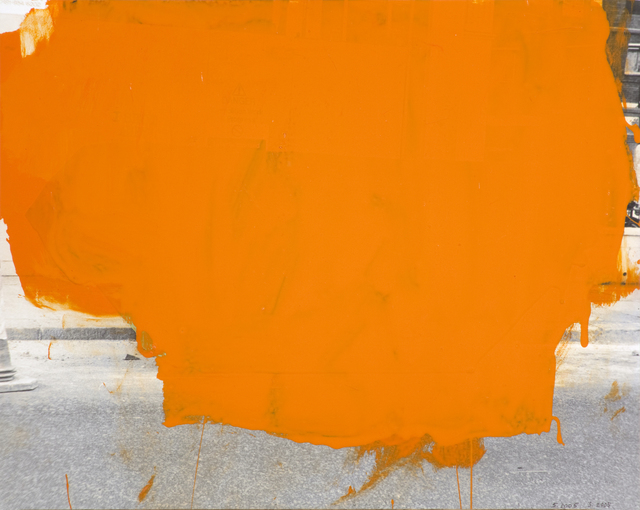 John Beech, 'Coated Drawing #49 (orange)', 2005, Oliver Sears Gallery